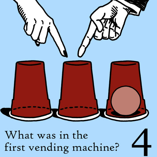 What Was In The First Vending Machine?