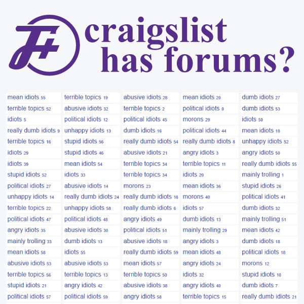 Craigslist Has Forums?