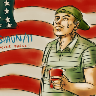 SHAUN/11 NEVER FORGET ~ art by transatlanticalien