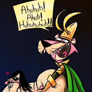 Snagglepuss Loki has giggling sex ~ art by For The Love