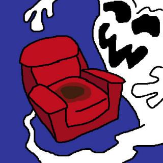 butt ghost in a chair ~ art by Sham Bam Bamina