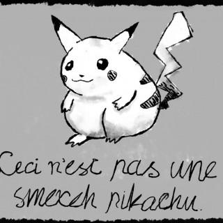 Ceci n'est pas une pikachu ~ art by Spooks