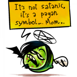 It's not Satanic, it's a Pagan Symbol... Mom... ~ art by For The Love