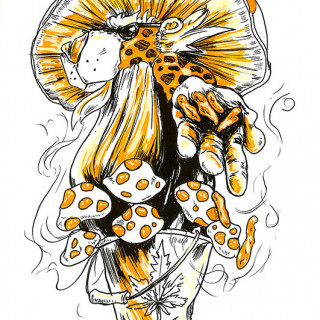 Chester Cheetah is MADE OF WEED ~ art by Sanguinary Novel
