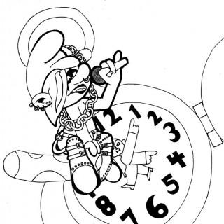goth rap smurf ~ art by dijon du jour