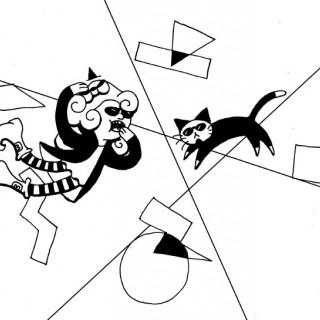 stoke your cat ~ art by dijon du jour