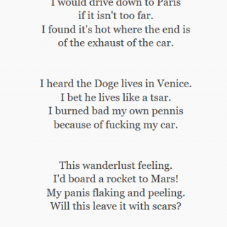 a poem about sex with a car ~ art by Spooks