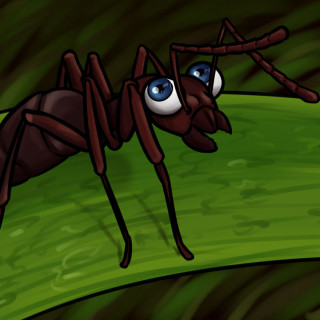 ant with human eyes ~ art by Sauce