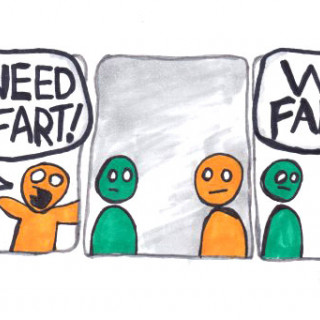 I need to fart! Who farted? ~ art by Adam Bozarth