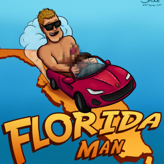 Florida Man is naked ~ art by Sauce