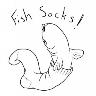 Fish Socks! ~ art by Puppy Time