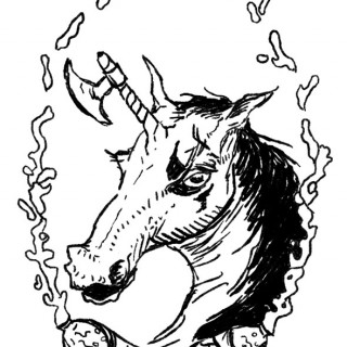juggalo unicorn ~ art by Spooks