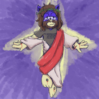 Suicide Jesus the Hedgehog likes the song Mad World ~ art by Positronic