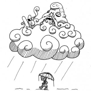 vape cloud god ~ art by dijon du jour