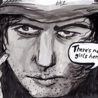 There's no girls here. ~ art by Adam Bozarth