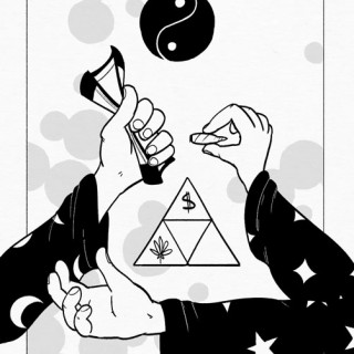 Magick of Capitalism: Weed For Money, Money For Weed ~ art by Moxie Ramsey