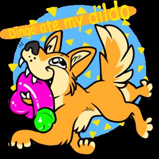 dingo ate my dildo ~ art by renew