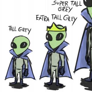 grey | tall grey | extra tall grey | super tall grey ~ art by Amelia Blank