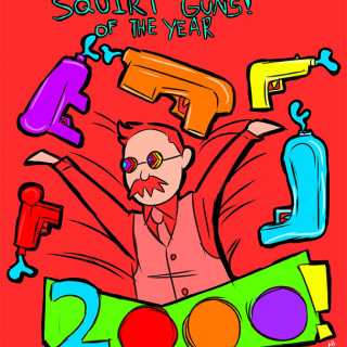 squirt guns of the year ~ art by Amelia Blank