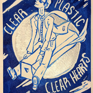 roy orbison clingfilm clear plastic clear hearts ~ art by Sanguinary Novel