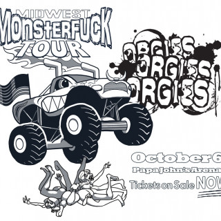 Midwest Monsterfuck Tour ~ art by dijon du jour