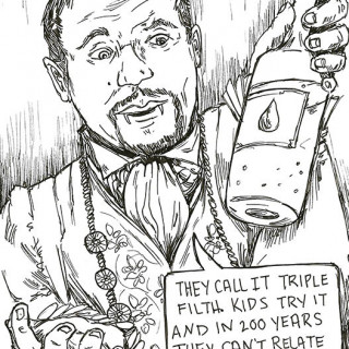 Ice T as Anne Rice ~ art by Sanguinary Novel