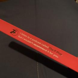 a slap bracelet, laid flat