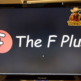 Comic Sans dat F Plus Logo