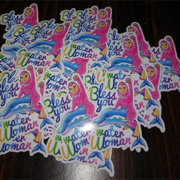 a pile of water woman stickers